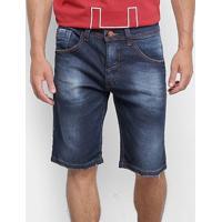 Bermuda Jeans Ecko Slim Masculina - Masculino-Azul