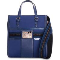 Bolsa Tote Saad Couro E Nylon Azul
