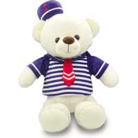 Urso De Pelúcia 30Cm - Marinheiro Azul - Unik Toys