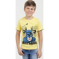 Camiseta Infantil Estampa Batman Liga Da Justiça
