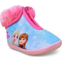 Pantufa Fem Infantil Ricsen 207 Frozen Rosa
