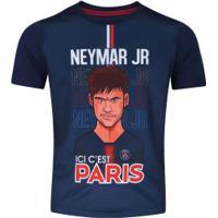 Camiseta Psg Neymar Jr. Bomache - Infantil - Azul Escuro