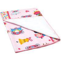 Cobertor Bebê Feminino Antialérgico Rosa Princesas - Bambi - Tamanho Único - Rosa