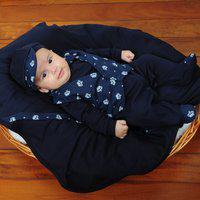 Saída De Maternidade Sônia Enxovais Menino Luxo Coroa Baby Marinho
