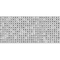Adesivo De Parede Para Quarto Caça Palavras Preto 140 Cm