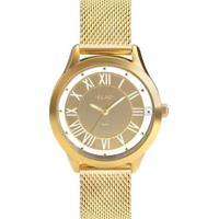 Relógio Euro Ouse Ser Você Mesma Feminino - Feminino-Dourado