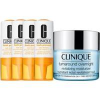 Kit Facial Clinique Fresh Pressed Vitamina C + Hidratante Noturno Turnaround Overnight Revitalizing Moisturizer