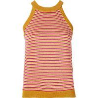 Twin-Set Blusa De Tricô Listrada - Dourado