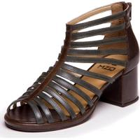 Sandalia Gladiadora Mzq Verde Folha / Chocolate - Grace Kelly 5861
