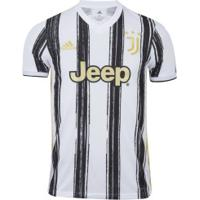 Camisa Juventus I 20/21 Adidas - Masculina - Branco/Preto