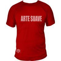 Camiseta Uppercut Jiu-Jitsu Dry Fit Arte Suave Vermelho
