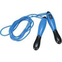 Corda De Pular Com Contador Eletrônico Oxer Jump Rope - Azul/Preto