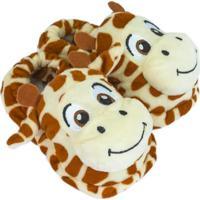 Pantufa Infantil Girafa - Unik Toys - 8_A_12_Meses
