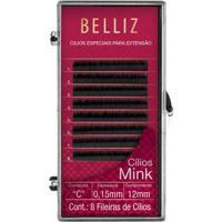 Cílios Para Alongamento Belliz - Mink C 015 12Mm 1 Un - Feminino-Incolor