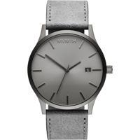 Relógio Mvmt Masculino Couro Cinza - D-Mm01-Grgr