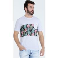 Camiseta Masculina Estampa Floral Bolso Marisa