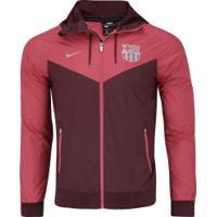 Jaqueta Barcelona Windrunner Com Capuz Nike - Masculina - Vinho 2268ea49ce6