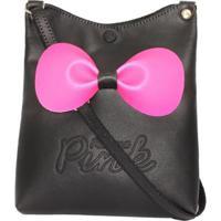 40768de99 ... Bolsa Infantil Princesa Pink Sintética Com Laço - Feminino-Preto