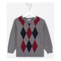Blusão Infantil Estampado - Tam 1 A 4 Anos | Póim (1 A 5 Anos) | Cinza | 01