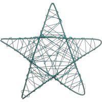 Estrela Decoraçáo Natalina 35X35 Cm Cor Azul Plástico 1 Peça