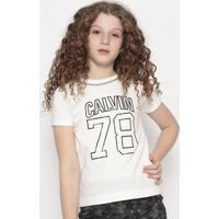 """Blusa """" Calvin""""®- Branca & Preta- Calvin Kleincalvin Klein"""
