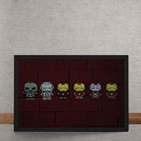 Quadro Decorativo Homem De Ferro Armaduras Mural Minimalista Chapiscado Marvel 25X35