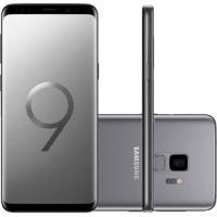 """Smartphone Samsung Galaxy S9 Cinza Tela Infinita De 5,8"""" Câmera De 12"""