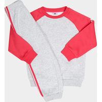 Netshoes  Conjunto De Moletom Infantil Adidas Baby - Unissex-Cinza+Pink 069378fa19110