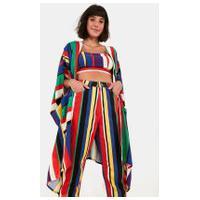 Calca Sarja Listra Lulu Multicolorido