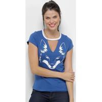 Camiseta Cruzeiro Choker Feminina - Feminino
