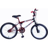 Bicicleta Dalannio Bike Masculina Aro 20 Mutante Preto E Vermelho