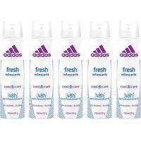 Kit 5 Desodorantes Aerosol Adidas Feminino Cool & Care Fresh 150Ml - Feminino-Incolor