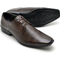 480cefc638 ... Sapato Social Couro Texturizado Reta Oposta Masculino - Masculino-Marrom