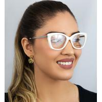 Óculos De Grau Michael Kors Branco Acetato-0Mk4077 3342 52