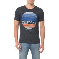 Camiseta Calvin Klein Jeans Mc Estampa California Preta Camiseta Ckj Mc Estampa California - Preto - P