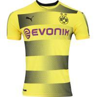 Camisa Borussia Dortmund I 17 18 Puma - Masculina - Amarelo Preto 098b2969705
