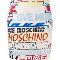 Love Moschino Minissaia Com Logos - Branco