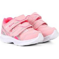 Tênis Infantil Kurz Velcro - Feminino-Rosa Claro