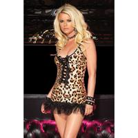 Mini Vestido Leg Avenue 28013 - Oncinha, Estampado/Multicolorido, M/L