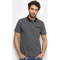 Camisa Polo Forum Bolso Masculina - Masculino-Preto