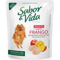 Ração Para Cães Sabor & Vida Flavour E Health Adulto Sabor Frango Ao Molho Com Frutas Sachê 100G