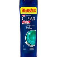 Shampoo Anticaspa Clear Men Limpeza Diária 2 Em 1 400Ml