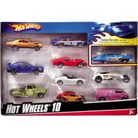 Hot Wheels Pacote Com 10 Carrinhos Sortidos - Mattel - Kanui