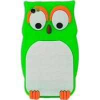 Capa Case Para Iphone 4/4S Silicone Coruja Verde