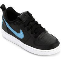Tênis Juvenil Nike Court Borough Low Ep - Feminino-Preto+Azul