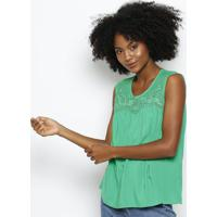 Blusa Texturizada Com Bordado- Verdehering