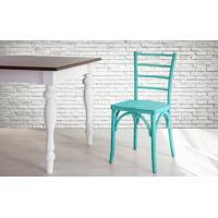 Cadeira Anatômica De Madeira Torneada Azul Charlotte - 40,5X49X88 Cm