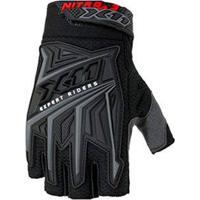 Luva X11 Nitro 3 Meio Dedo Trilha Motocross Bike Preta Original