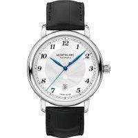 Relógio Montblanc Masculino Couro Preto - 116511