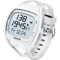 Monitor De Ritmo Cardíaco Beurer Com Pulseiras Substituíveis Em Azul E Branco - Pm 45